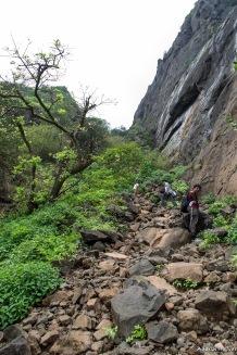 Prabalmachi onwards, its quite tough - these rocks sometimes shift under your feet