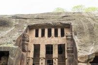 A stupa in Kanheri Caves