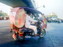 Why would anyone deck up a cruise bike as a rickshaw?