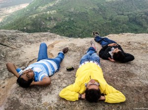 Chilling out in Nandi Hills