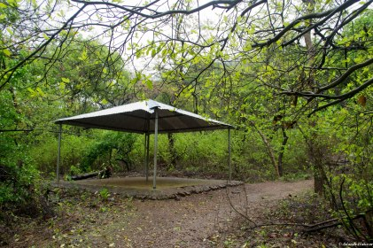 One of the four rest areas along the trail