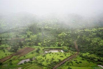 Spectacular views of villages below