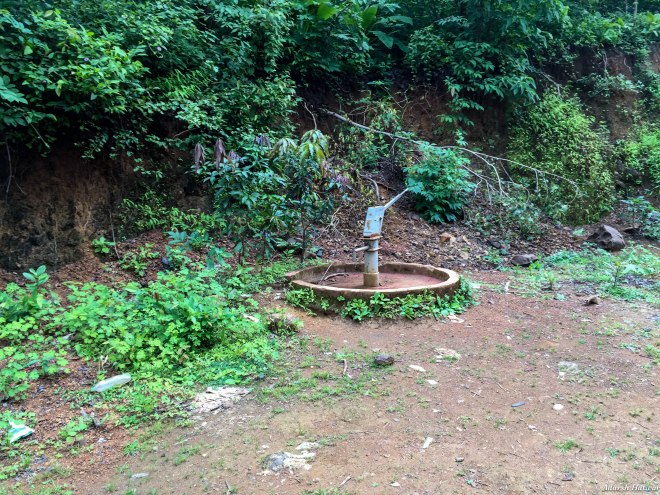 Unofficial milestones, these handpumps show up every 2kms or so