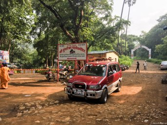 To the left is Tungareshwar Temple and to the right is the way up to the top