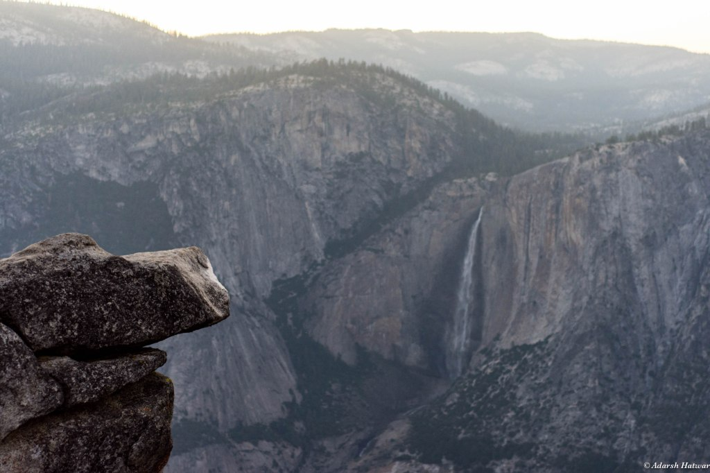 A view of the Upper Yosemite Falls from Glacier Point
