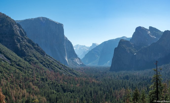 Tunnel View - El Capitan to the left and Half Dome in the background